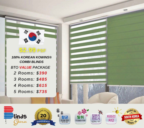 Korean KOWINS®️combi blinds